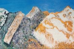 Snowy Flatiron Morning, Acrylic (12 x 48)
