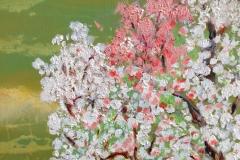 Cherry Blossom, Acrylic (20 x 20)