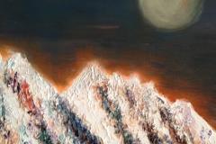 Moon on Flatirons, Acrylic (24 x 24)