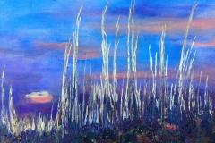 Plains Sunset, Acrylic (18 x 24)